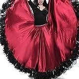 Casual Dresses for Women Summer Femmes Robe de Bal de Danse du Ventre Jupe Voir Robe, Taille: 720 degrés (vin Rouge) CXH ( Color : Wine Red , Size : 720 Degrees )