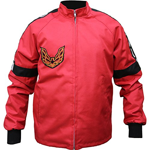 Cordura/Parachute - Smokey and The Bandit Burt Reynolds Red Bomber Jacket (3X-Large (Best for Chest Size 50))