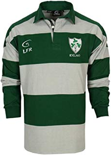 LFR Malham Irish Long Sleeve Forest Green and Grey Striped Rugby Jersey