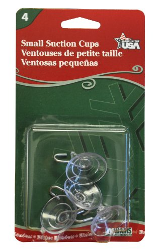 Adams Christmas 7500-77-1043 Small Suction Cup, 4-Pack