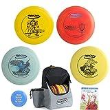 Innova Disc Golf Complete Advanced Set Gift Bundle - Discover Backpack Bag, 2 Drivers, Mid-Range, Putter + Mini Marker Disc & Rules (7 Items) (Bag: Gray/Black)