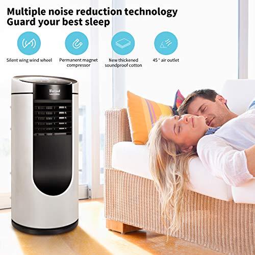 Klimagerät Mobil, 4 in 1 Klimaanlage 9000 BTU/h Luftkühler Luftreiniger Luftentfeuchter Ventilator Natürliche Abkühlung Energieklasse A