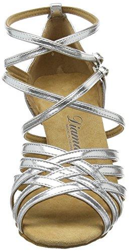 Diamant Diamant Latein 108-087-013 Damen Tanzschuhe – Standard & Latein, Damen Tanzschuhe – Standard & Latein, Silber (Silber), 38 2/3 EU (5.5 Damen UK) - 2