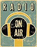 KODY HYDE Metall Poster - Radio On Air Large - Vintage
