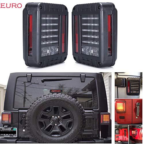 SXMA Euro Version LED Rückleuchten Rücklicht Hinten Blinker Led Bremsleuchten Rückleuchten für Jee p 07-17 Wrangler JK (1 Para)