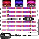 Roleadro Grow Light for Indoor Plants, T5 LED Grow Lights 3500K & Red Blue Full Spectrum Plant Growing Lamp with Timer/Extension Cables Indoor Plant Light Bar 4 Dimmable Levels for Seedlings Succulent