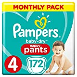 Couches Pampers Baby-Dry Pantalon taille 4, 172 Couche Culotte d'apprentissage,...