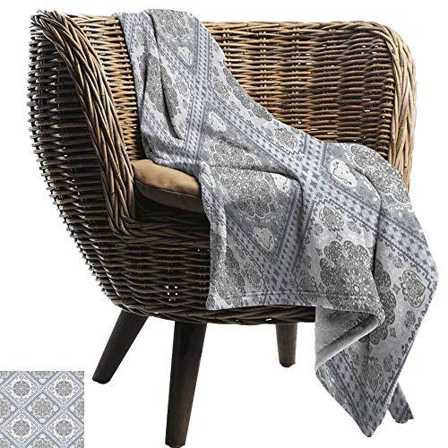 ZSUO peuter deken Turks patroon, Complex Swirl Art Motieven met Perzische oorsprong in bleke kleuren, grijs bleke Mauve wit Cozy hypoallergeen gemakkelijk te dragen deken