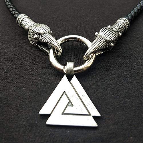 NC110 Collar Triangular del Padre de los Dioses de la mitología nórdica Colgante del tótem de la Cultura joyería Triangular YUAHJIGE