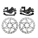 Huanxin Bicicleta del Disco Juego de Frenos, Resistente Durable del Disco del Rotor Moto Kit de Frenos, Freno de Disco Diámetro del Disco 160, para Bicicleta de Carretera, Bicicleta de montaña