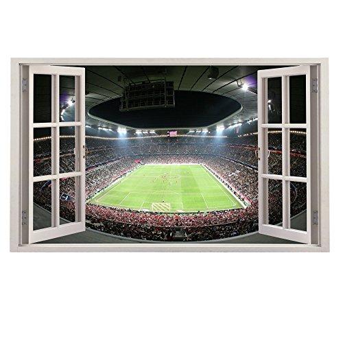 Customise4U Bayern Munchen Stadion Fenster Kinder Wandaufkleber Wandüber Wall Art Wand Tattoo (Bayern Stadium 35cm)