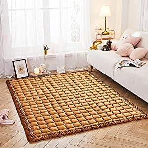 Premium Stylish Velvet Floor Mat, Cushy-Soft & Thick Crawling Rugs for Toddler, Puff Quilt Plush Baby Play Mat Nursery Area Rug, Pet-Friendly, Yoga Mat, Exercise Mat – Large Modern