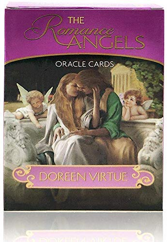 The Romance Angels Tarot Oracle Cards Deck|The 44 Romance Angel Oracle Cards by Doreen Virtue Rare Out of Print, New Gold-Plated Series, Clarity About Soul-Mate Relationships, Healing from The Past