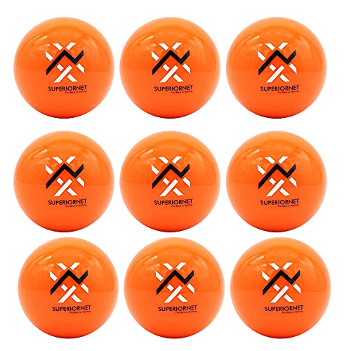 Superiornet 9 Pack 3' Weighted Training Baseballs & Softballs / 16 oz Heavy Balls for Hitting and Pitching