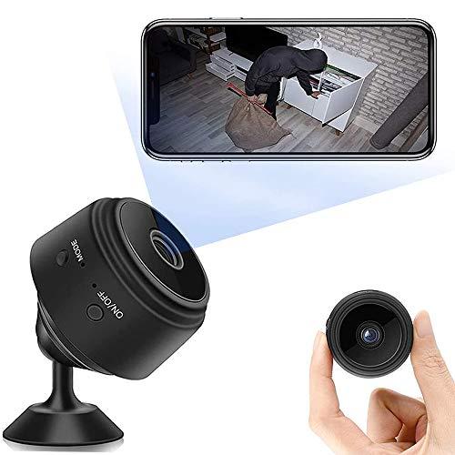 Mini Cámara,WiFi Inalámbrica Pequeña Cámara Oculta,150ºGran Angular Detección 1080P HD Micro Camara Vigilancia Grabadora de Interior/Exterior Video Portátil