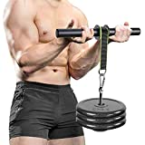 Wrist and Forearm Blaster Roller Trainer Muscle Strength Training Weight-Bearing Rope Hand Grip Foam Roller Anti-Slip Home Gym Workout - Wrist/Arm BlasterExerciser Profession Fitness Equipment