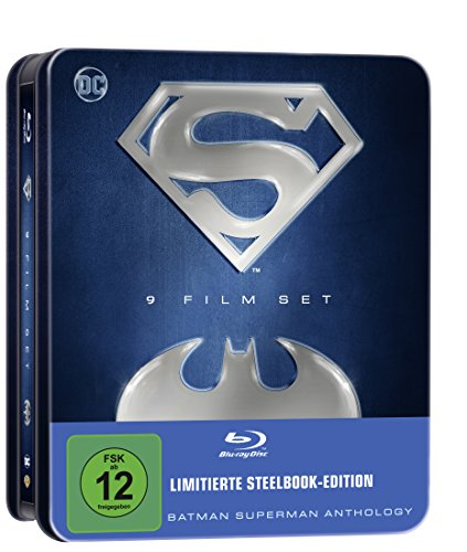 Batman Superman Anthology - 9 Film Set (limitierte Tin-Box Edition) (exklusiv bei Amazon.de) [Blu-ray] [Limited Edition]
