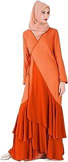 cfbf5b6a098 ALIKEEY Femmes Modest Maxi Dress Abaya Turquie Patchwork Robe Longue Caftan  VêTements Musulmane Dentelle éLéGant Femme