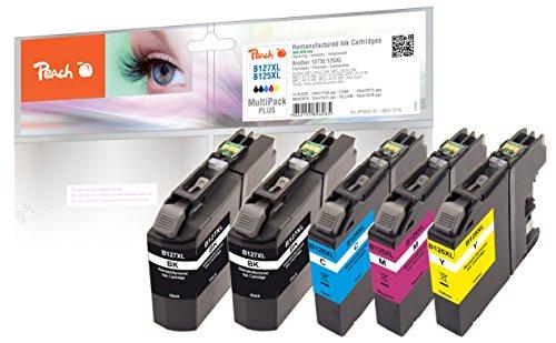Peach Spar Pack Plus Tintenpatronen, kompatibel zu Brother LC-125XL, LC-127XL