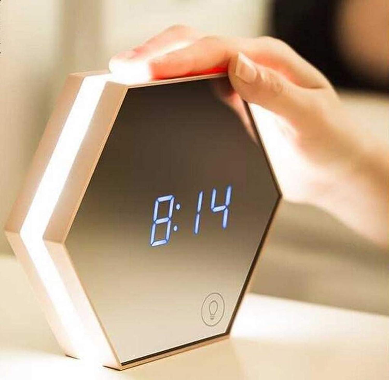 Smart Home Multi-Funktions-Spiegel Nacht Lampe Schlafzimmer Alarmschloss NachttischLampe Kreatives Geburtstagsgeschenk