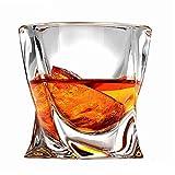 Wly&home Whisky Gafas, Cristal de Roca del Whisky Vidrios para Regalos de cumpleaños del día de Padre Hombres Mujeres, 300ML