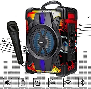 LiyuanQ Portable Bluetooth Speaker with Microphone