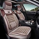 xiaofeng Car Seat Cover Set Completo de Lino Transpirable alforfón Shell de llenado Universal for Audi A3 / A4 / A5 / A6 / A8 / P3 / P5 / RS4 (Color : B)
