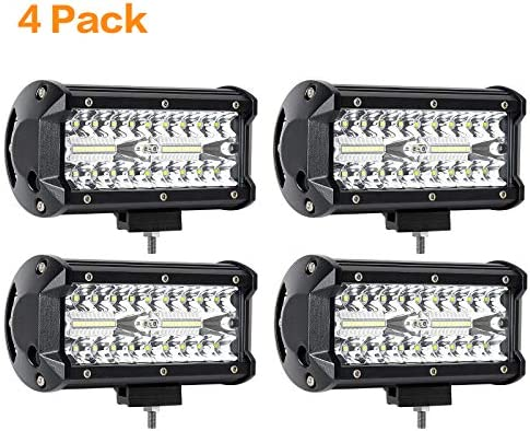 BEEYEO Led Light Bar 240W 24000lm 7 Inch Led Driving Lights Off Road Lights with Spot Flood product image