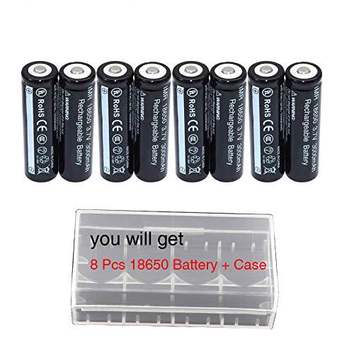 8Pcs L18650B Button Top Storage Holder Case Kit for LED Flashlight Torch etc