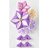 つまみ細工 彩花ブローチ 手作りキット(紫)【裁縫 手芸 ハンドメイド ちりめん 和風】