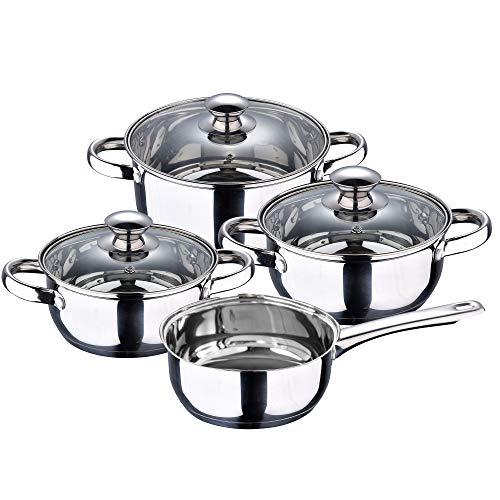 2. San Ignacio – Batería de cocina de 7 piezas de acero inoxidable