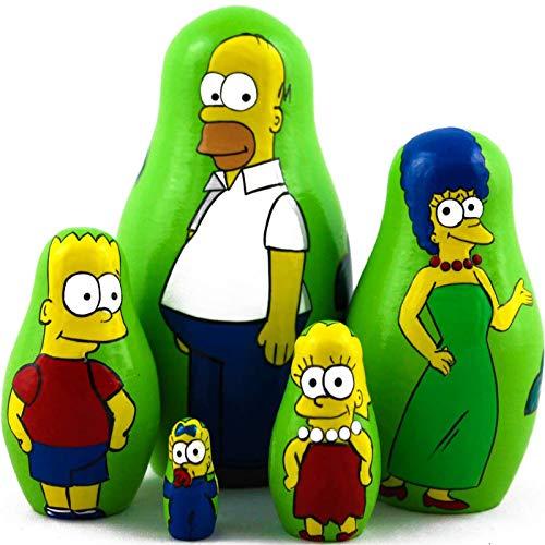 Matryoshka Dolls The Simpsons Characters Set 5 pcs Unique Toys