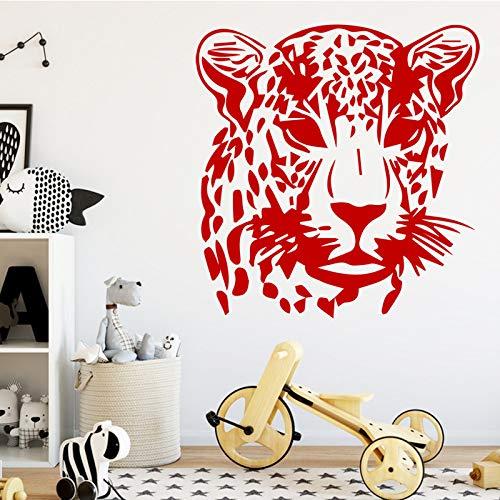 sanzangtang Leopard Wandaufkleber, entfernbarer Wandaufkleber, Tapete, dekoratives Wandbild für Wohnzimmer Schlafzimmer Wandbild,45x46cm