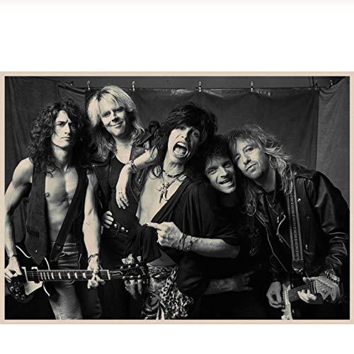 Aerosmith Rockmusik Poster Vintage Poster (Ohne Rahmen) Filmplakat Retro Wandaufkleber Wohnkultur/Leinwand Malerei 50 × 70 cm Ohne Rahmen