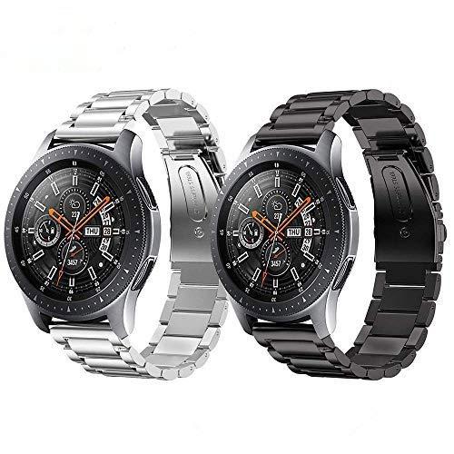 TOPsic Cinturino Galaxy Watch 46MM, 22MM Cinturini di Ricambio Acciaio Inossidabile Strap Wrist Banda Orologio Cinturino Metallo per Gear S3 Classic/ S3 Frontier/Galaxy 46MM