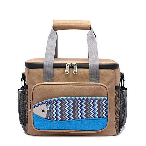 ETOPARS Bolsa de almuerzo aislada para mujeres y hombres a prueba de fugas, reutilizable, bolsa de almuerzo con correa de hombro ajustable para oficina, trabajo, escuela, picnic, playa
