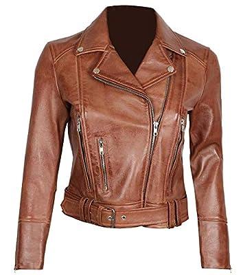 Blingsoul Lambskin Leather Moto Jacket Women   [1300194] Aldo Tan, L