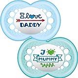 MAM Schnuller 'I Love Mummy / I Love Daddy' 6+ Monate (Blau)