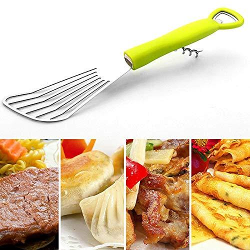 TIGOWL Edelstahl Ölspatel Schaufel Schaufel Multifunktionales Spritzfleisch Kochen Kochen Gebratenes Fischsteak Küchenwerkzeug