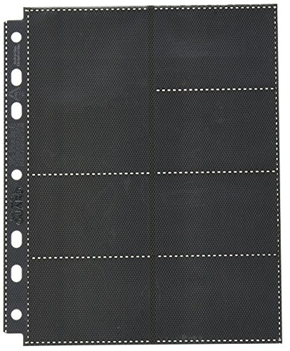 Ultimate Guard Pages 14 Pocket Stand Card Sleeves (10 Piece), Black, Mini