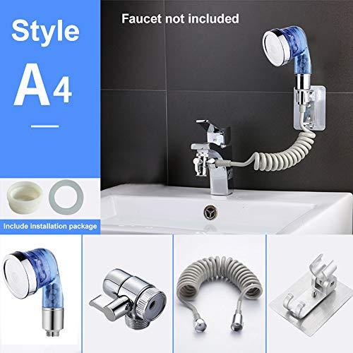 HIANG256 - Set di doccetta per lavabo da bagno, doccetta, lavabo, vasca da bagno, accessorio per lavare i capelli, animali domestici, Non null, A4, Taglia libera