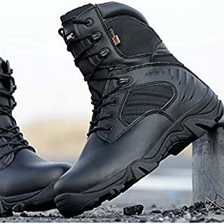 Blackbenz Men's Boots Special Forces Operational Boots High Super Light Army Tactical Boots Flying Boots Autumn and Winter(Black,39)
