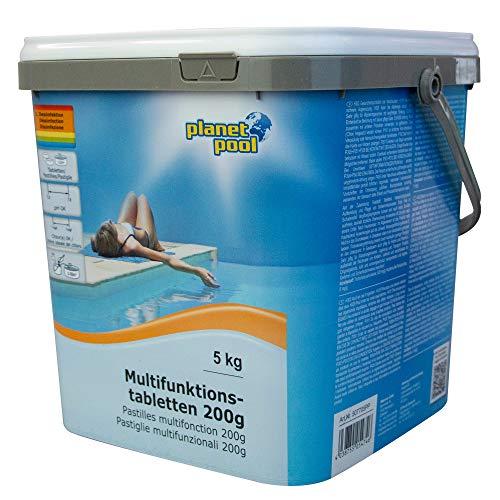 Planet Pool: Multifunktions-Tabletten für Pools | 200g Tablette | 5 kg Packung