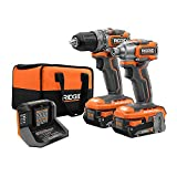 RIDGID 18V Brushless Sub-Compact Cordless 1/2 -inch Drill/Driver and Impact Driver Combo Kit, R9780