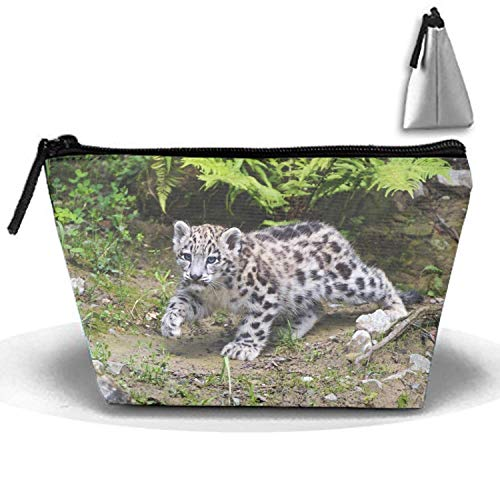 Animals Feline Mammals Snow Leopards Travel Toiletries Bag Phone Coin Purse Cosmetic Pouch Pencil Case Tote