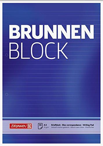 Brunnen 1052757Carta/bloc de notas/la fuente bloque (A4, de rayas, 50hojas, 70g/m², 2orificios)