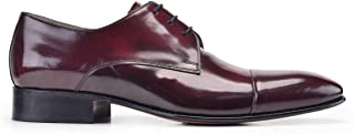 7500-F41 PIY -BORDO ACMA 507 Nevzat Onay%100 Deri Bordo Klasik Bağcıklı Kösele Erkek Ayakkabı