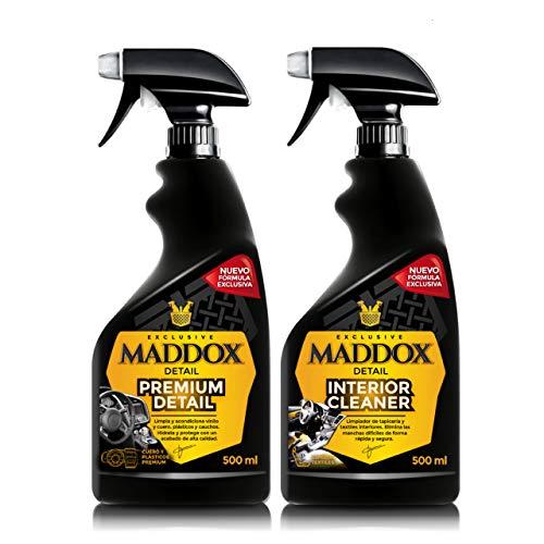Maddox Detail - Interior Care Kit - Limpiador de tapicería textil y de salpicadero acabado brillante.