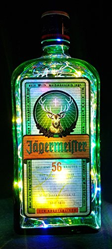 Jägermeister – Lámpara de botella con 80 ledes multicolor, idea de regalo