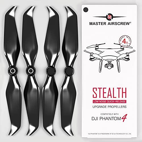 Eliche MAS Stealth per DJI Phantom 4 - Nero 4 pezzi